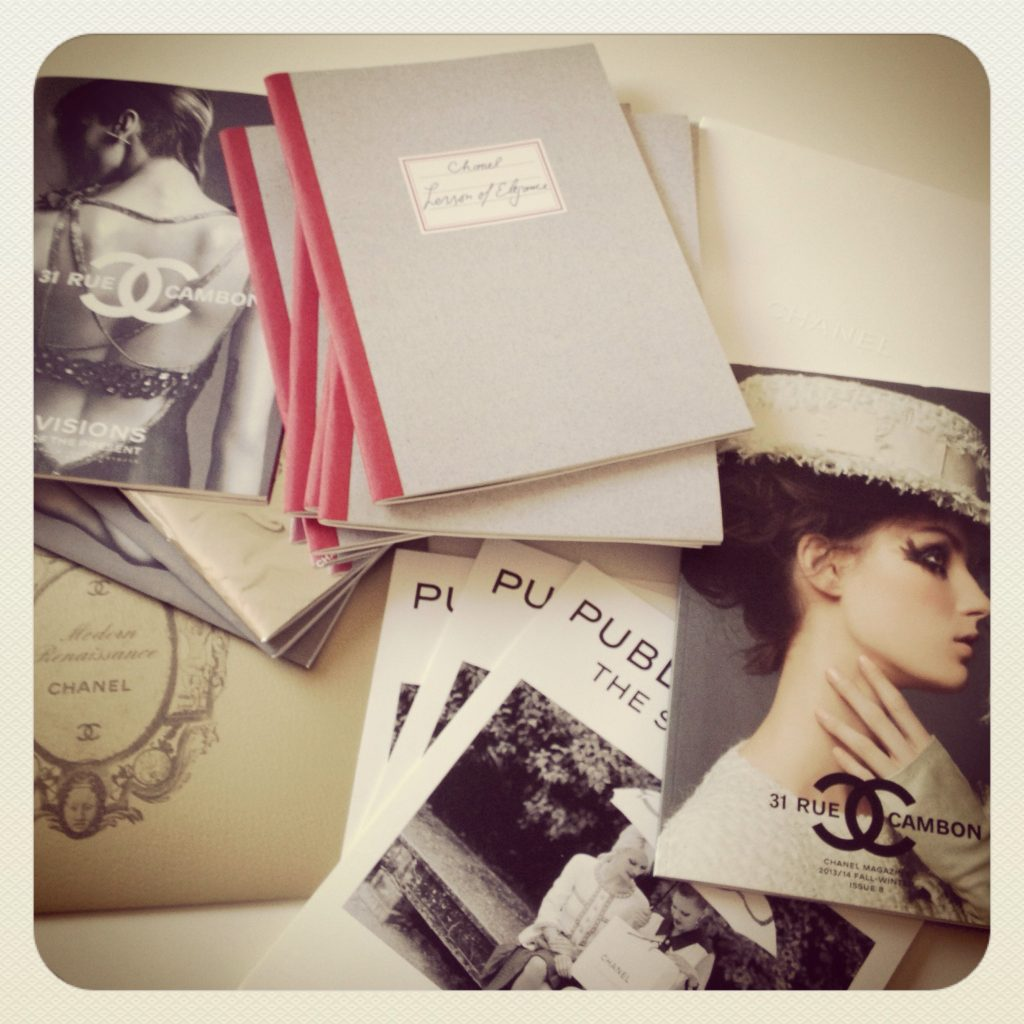 CHANEL Brochures Marketing wanderingwithyan fashion collection