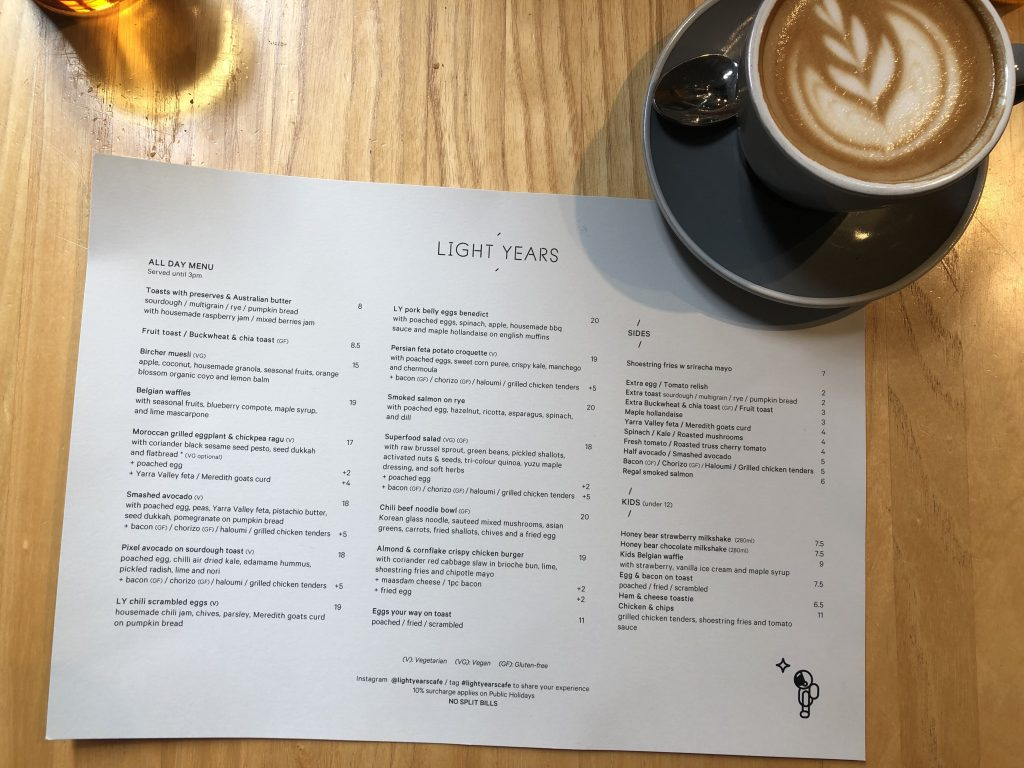 wanderingwithyan light years melbourne brunch coffee hawthorn camberwell menu